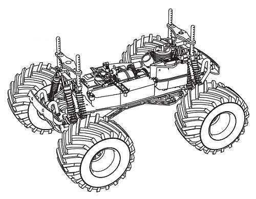 Kyosho Mega Force Chassis