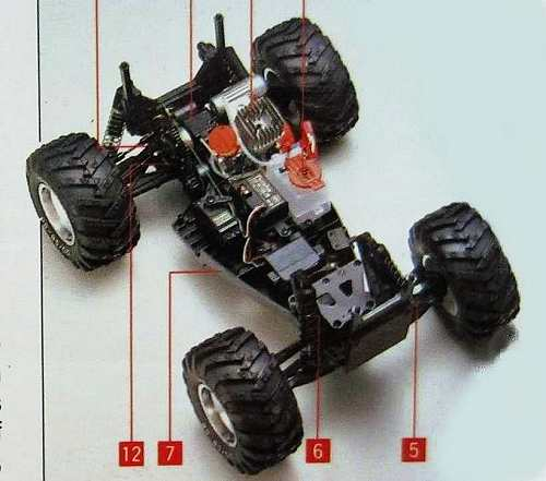 Kyosho Nitro Tracker Chassis