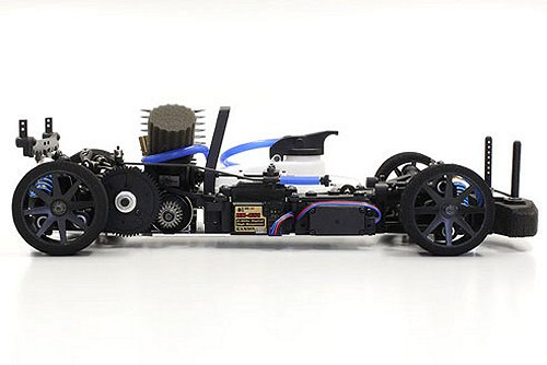 Kyosho V-One R4 Chassis - Side View