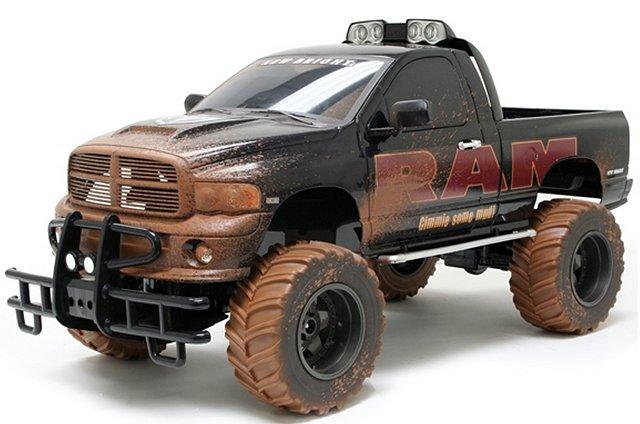 ram bright dodge hemi truck radio monster scale rcscrapyard battery controlled electric