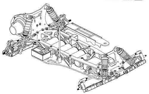 Schumacher Fireblade Evo Chassis