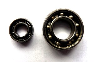 Ball Bearings with Shields Removed