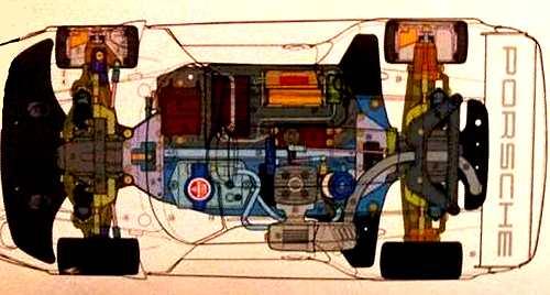 Tamiya Porsche 911 GT1 TGX Mk1 Chassis