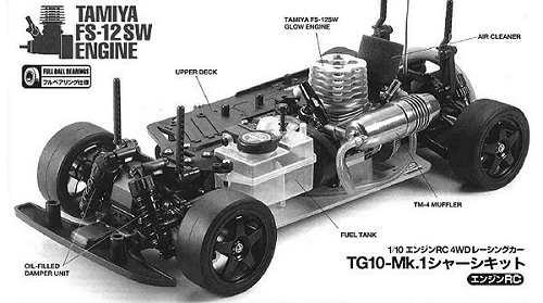 Tamiya 44020 TG10 Mk1 Chassis