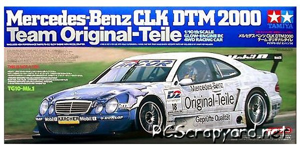 Tamiya Mercedes Benz CLK DTM 2000 Original Teile - 44028 - 1:10 Nitro On Road