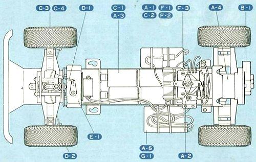 Tamiya Lamborghini Cheetah #58007 Chassis