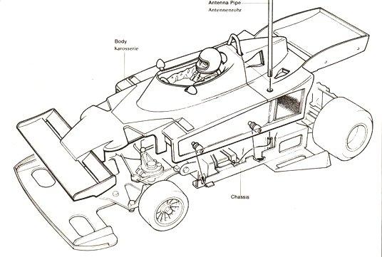 Tamiya Ligier JS9 Matra #58010 Body Shell