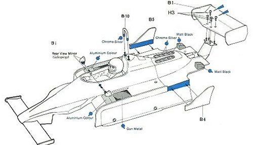 Tamiya Williams FW-07 (CS) #58019 Body Shell