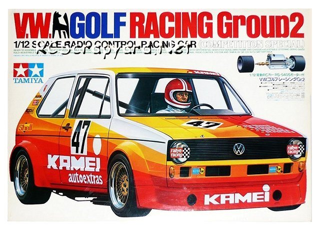 Tamiya VW Golf Racing Group 2 (CS) - #58025 - 1:12 Electric Model