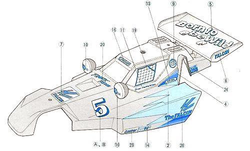 Tamiya Falcon #58056 Body Shell