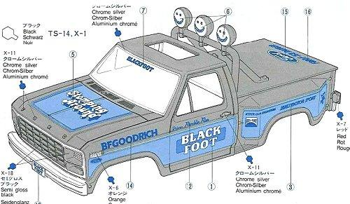 Tamiya Blackfoot #58058 Body Shell