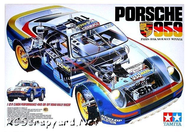 Tamiya Porsche 959 - Paris-Dakar Rally Winner - #58059 - 1:12 Electric Model