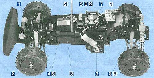 Tamiya Thunder Shot #58067 Chassis