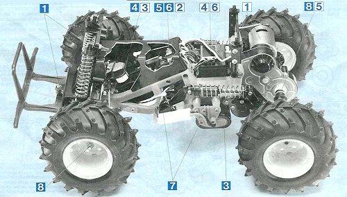 Tamiya Mud Blaster #58077 Chassis