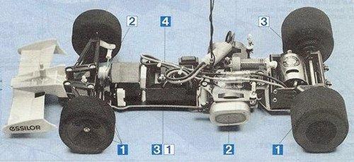 Tamiya Tyrrell 019 Ford #58090 Chassis