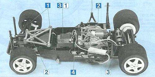 Tamiya Honda NSX #58094 Chassis