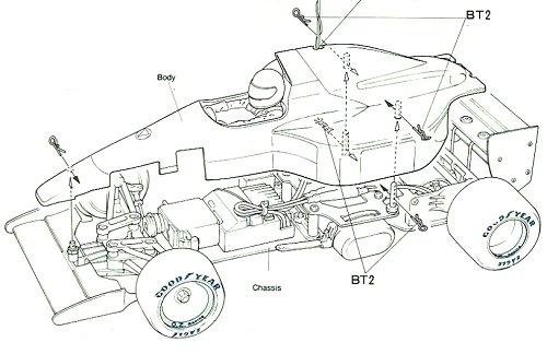 Tamiya Lotus 102B Judd #58095 Body Shell
