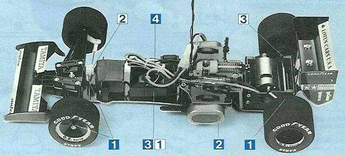 Tamiya Lotus 102B Judd #58095 Chassis