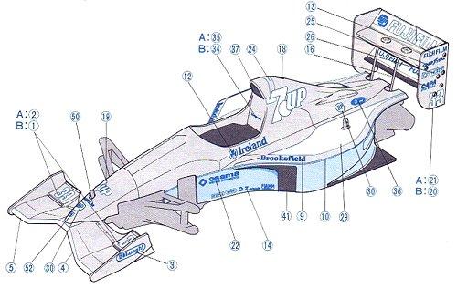 Tamiya Jordan-191 #58103 F101 Body Shell