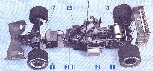 Tamiya Jordan-191 #58103 F101 Chassis