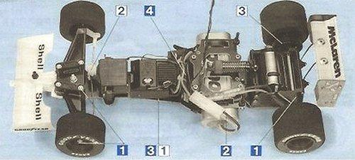 Tamiya McLaren MP4/6 Honda #58104 F102 Chassis