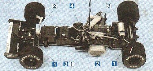 Tamiya Williams FW14 Renault #58105 F102 Chassis