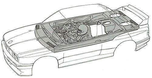 Tamiya Schnitzer BMW M3 Sport Evo #58113 TA01 Body Shell