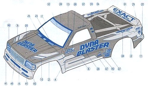 Tamiya Dyna Blaster #58123 Body Shell