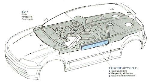 Tamiya Castrol Honda Civic VTi #58127 FF01 Body Shell