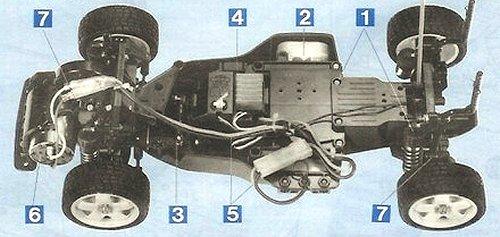 Tamiya Castrol Honda Civic VTi #58127 FF01 Chassis