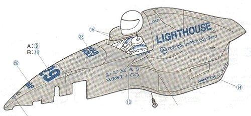 Tamiya Sauber C12 #58130 F103 Body Shell