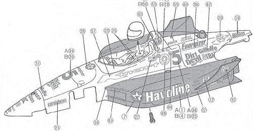 Tamiya Newman Haas K-Mart Texaco Lola T93/00 #58134 F103L Body Shell