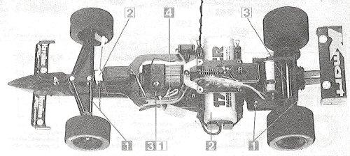 Tamiya Newman Haas K-Mart Texaco Lola T93/00 #58134 F103L Chassis