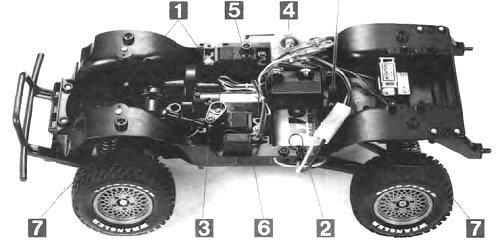 Tamiya Jeep Wrangler #58141 CC01 Chassis