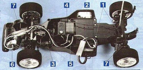 Tamiya Ford Mondeo BTCC #58143 FF01 Chassis