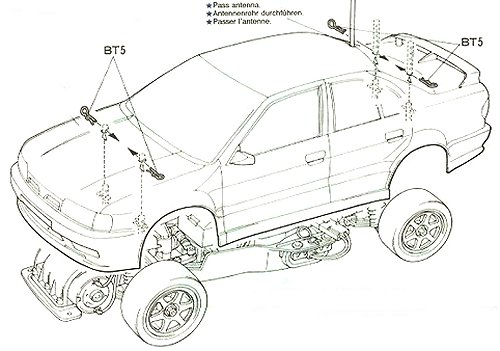 Tamiya Castrol Nissan Primera JTCC #58147 FF01 Body Shell