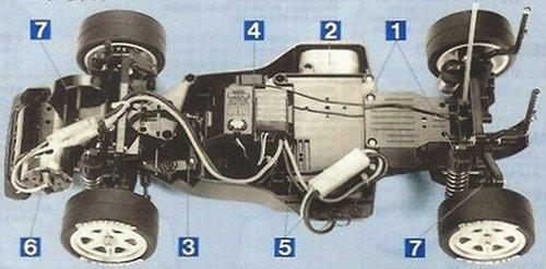 Tamiya Castrol Nissan Primera JTCC #58147 FF01 Chassis
