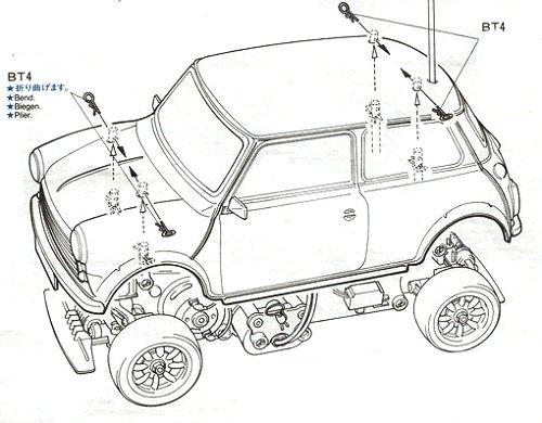 58149 Tamiya Rover Mini Cooper M 01 Radio Controlled Model