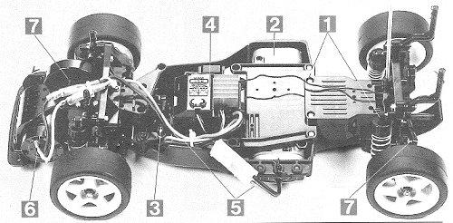 Tamiya Calsonic Nissan Primera JTCC #58151 FF01 Chassis