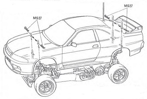 Tamiya Loctite Nissan Skyline GT-R N1 #58155 TA02 Body Shell