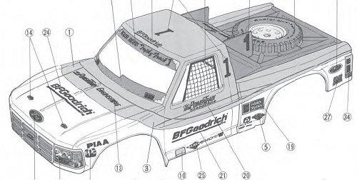 Tamiya Ford F-150 Truck #58161 TA01/TA02 Body Shell