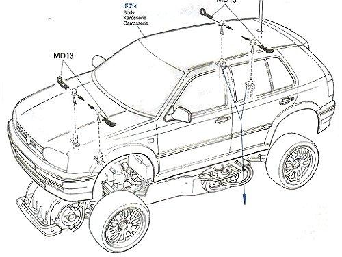 Tamiya Volkswagen Golf VR6 #58162 FF01 Body Shell