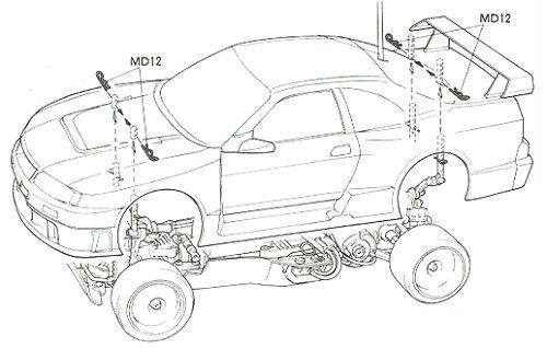 Tamiya Nismo Clarion GT-R LM #58165 TA02W Body Shell