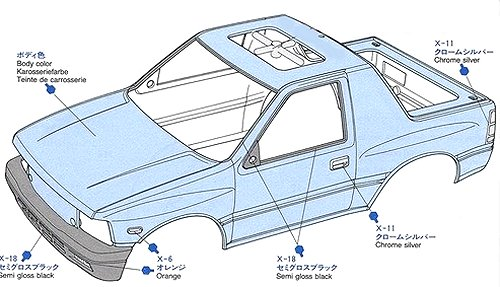 Tamiya Isuzu Mu Type X #58166 CC01 Body Shell