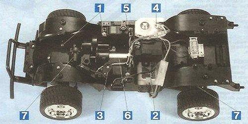 Tamiya Isuzu Mu Type X #58166 CC01 Chassis