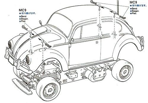 Tamiya Volkswagen Beetle #58173 M-02L Body Shell