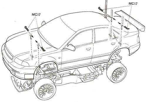 Tamiya Audi A4 STW #58182 TA-03F Body Shell