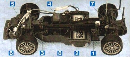 Tamiya Audi A4 STW #58182 TA-03F Chassis