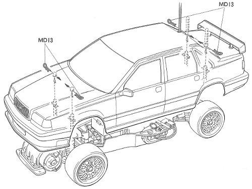 Tamiya Volvo 850 BTCC #58183 FF01 Body Shell
