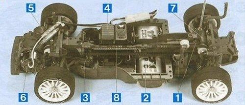 Tamiya Martini Alfa Romeo 155 V6 TI #58189 TA03F Chassis